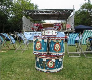 Drumhead on Steyne Green outside the hotel