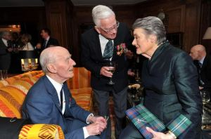 FEPOW Members Jim Crossan and Maurice Naylor with Patti Lomax (Photo courtesy of Bernard)