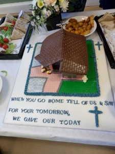 Cake made by one of the ladies of the parish