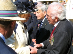 Picture of veteran Eddie Hunn with the Princess Royal